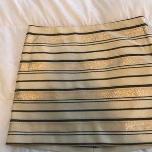 J Crew Striped Sparkly Mini Skirt